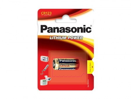 Panasonic CR123A 3V Lithium Batteri 1 Stk